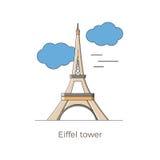 Eiffeltornvektor Royaltyfri Illustrationer
