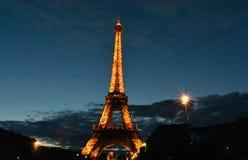 Eiffeltower at dusk Royalty Free Stock Photography