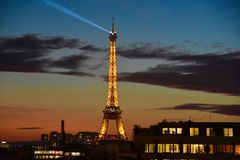 Eiffeltower. In the evening Royalty Free Stock Photography