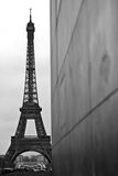 Eiffeltower Paris. Black and white shot of the eiffel tower in paris Stock Images