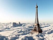 Eiffelturm über den Wolken vektor abbildung
