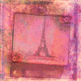 Eiffelturm - abstrakte Karte der Weinlese Stockfotografie