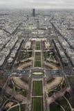 Eiffelturm-Ansicht Südost Stockfoto