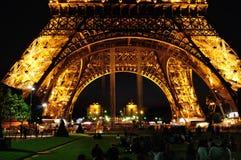 Eiffelturm bis zum Nacht - Detail Stockbilder