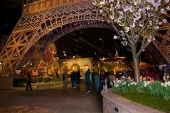 Eiffelturm-Blumen-Erscheinen Lizenzfreie Stockfotos