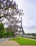 Eiffelturm am Frühling Stockfotografie
