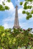 Eiffelturm im Frühjahr, Paris, Frankreich stockfotografie