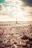 Eiffelturm im Sepia, Paris, Frankreich Stockfotos
