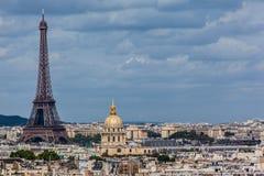 Eiffelturm Invalides Paris Frankreich Lizenzfreie Stockfotos