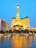 Eiffelturm in Las Vegas lizenzfreies stockfoto