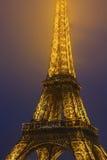 Eiffelturm-Lichtstrahl-Show Lizenzfreies Stockfoto