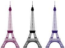 Eiffelturm lokalisiert auf weißem Hintergrund Paris, Frankreich Auch im corel abgehobenen Betrag Vektor Abbildung