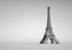 Eiffelturm in Paris lizenzfreie abbildung