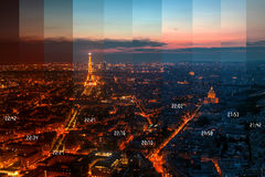 Eiffelturm, Paris, Frankreich stockbild
