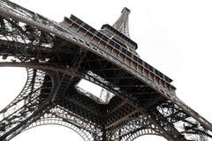 Eiffelturm in Paris getrennter Ansicht von unten Lizenzfreies Stockbild