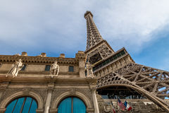 Eiffelturm-Replik an Paris-Hotel und am Kasino - Las Vegas, Nevada, USA stockfoto