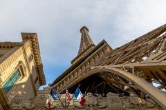 Eiffelturm-Replik an Paris-Hotel und am Kasino - Las Vegas, Nevada, USA stockbilder