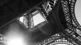 Eiffelturm Schwarzes und Whote Lizenzfreie Stockfotos