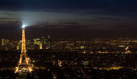 Eiffelturm-Skyline Lizenzfreie Stockbilder