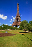 Eiffelturm von Paris Stockfotografie