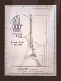 Eiffelturm-Zeichnung Stockfotografie