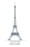Eiffelturm-Zeichnung Lizenzfreies Stockbild