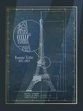 Eiffelturm-Zeichnung Stockfotos
