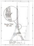 Eiffelturm-Zeichnung Lizenzfreies Stockfoto