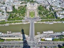 Eiffelturmansicht Lizenzfreie Stockfotos