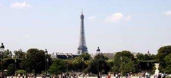Eiffelturmlandschaftsansicht stockbild