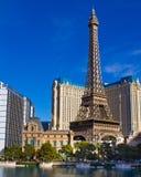 Eiffelturmreplik am Paris-Hotel und dem Kasino stockbild