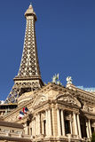 Eiffelturmreplik am Paris-Hotel und -kasino in Las Vegas Stockfotos