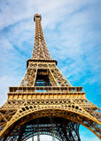 Eiffle tower of Paris. Eiffle tower from the bottom in the day time cloudy Stock Images