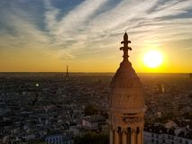 Eifielltoren van Montmartre, SacreCour stock fotografie