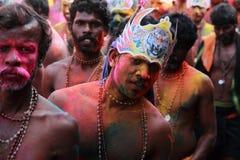 Eifrige Anhänger des Lords Ayyappa stockfoto