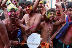 Eifrige Anhänger des Lords Ayyappa lizenzfreie stockfotografie