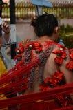 Eifriger Anhänger in Thaipusam-Prozession Stockfotografie