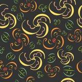 Eigenaardig naadloos patroon met bloemenbladeren Gebruikt voor de achtergronden van de de zomerlente stock illustratie