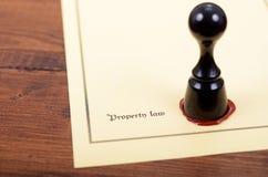 Eigendomsrecht, Notarisverbinding, Wettigheidsconcept, eigendomsrechthandeling royalty-vrije stock foto