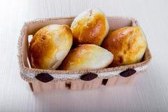 Eigengemaakt baksel Cakes met jam Stock Foto