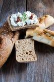 Eigengemaakt brood met kwark Royalty-vrije Stock Afbeeldingen