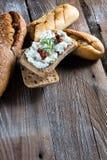 Eigengemaakt brood met kwark Stock Fotografie