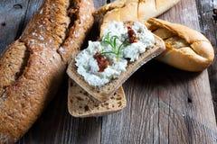 Eigengemaakt brood met kwark Royalty-vrije Stock Fotografie