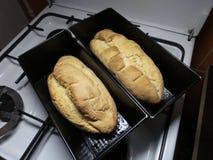 Eigengemaakt brood twee Royalty-vrije Stock Foto's