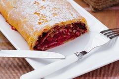 Eigengemaakt broodje met jam royalty-vrije stock afbeeldingen