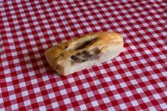 Eigengemaakt broodje met paddestoelen Royalty-vrije Stock Fotografie