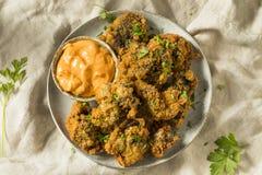 Eigengemaakt Diep Fried Chicken Livers royalty-vrije stock foto