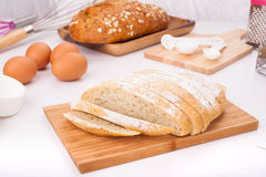 Eigengemaakt Frans dorpsbrood Stock Foto