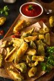 Eigengemaakt Fried Zucchini Fries stock foto