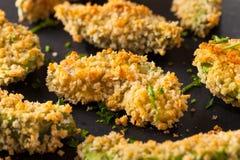 Eigengemaakt Gepaneerd Fried Avocado Fries stock afbeelding